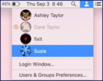 mac macos x fast user switching accounts enable use work settings