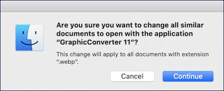 are you sure you want to change all open with mac macos x