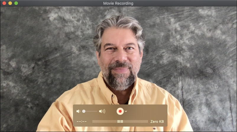 mac quicktime player - new screen recording - webcam capture -