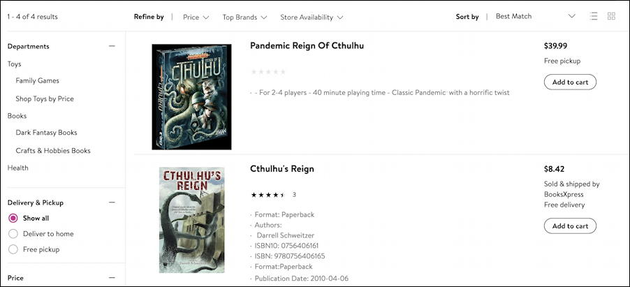 walmart.com search results - pandemic reign of cthulhu