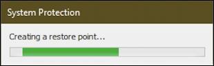 create restore point win10 - creating restore point