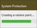 enable create windows restore point backup win10