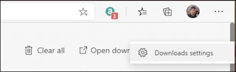 win10 microsoft edge - change download location - download settings