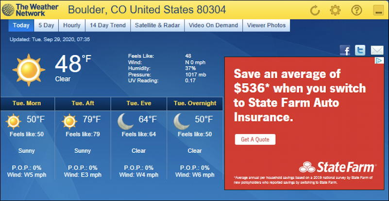 weathereye weather for boulder co