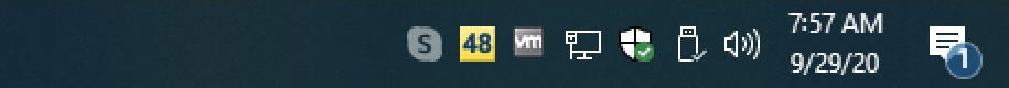 win10 taskbar - temperature on app icon