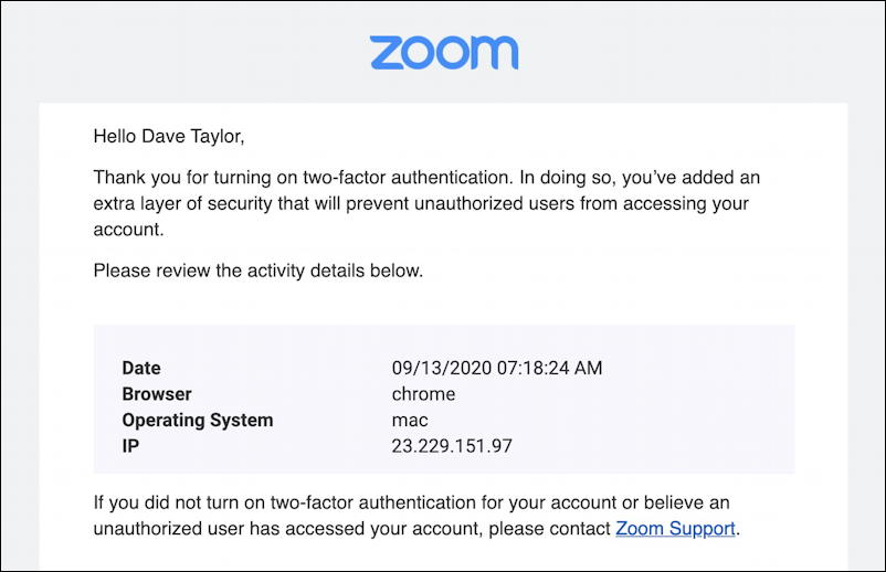 zoom 2fa - two factor authentication enabled set up zoom