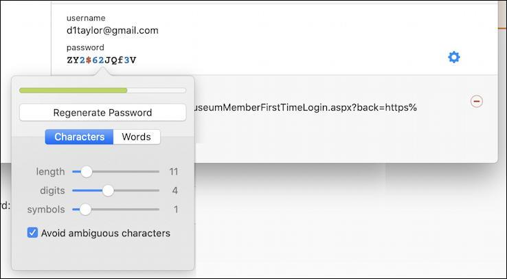 1password - generate more secure password - regenerated