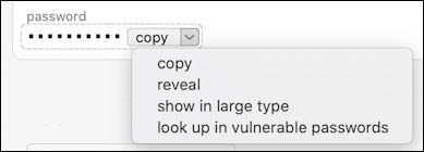 1password - generate more secure password - copy menu