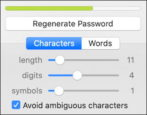 improve update password with 1password regenerate
