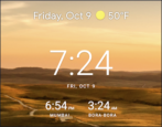 android show multiple clocks timezones world clock