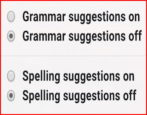 gmail spelling suggestions grammar mistakes check