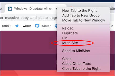 google chrome mac - right-click context menu tab