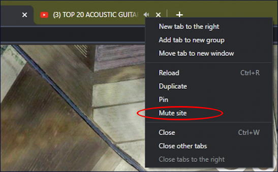 google chrome windows mute tab audio