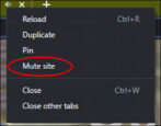 how to mute audio tabs chrome edge safari