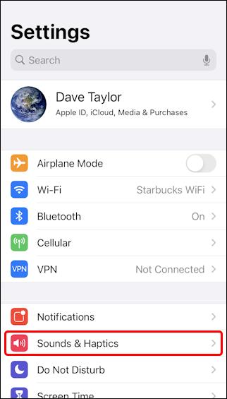 ios14 iphone settings sound and haptics