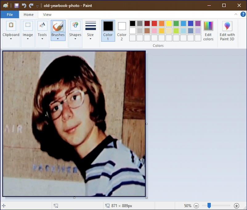 webp image displayed in Microsoft Paint - win10