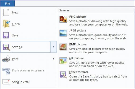 microsoft paint - save as - webp png jpg jpeg