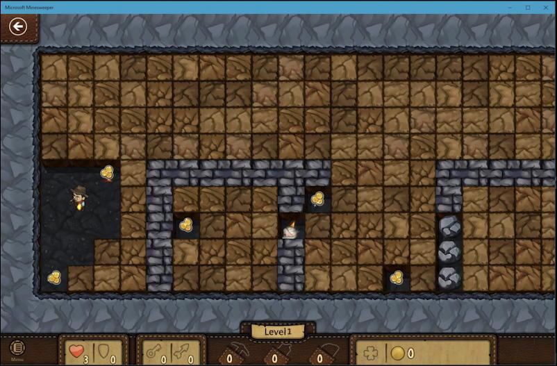 microsoft minesweeper win10 - adventure dungeon