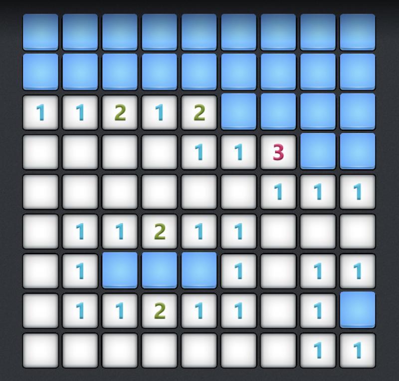 microsoft minesweeper win10 - 9x9 grid