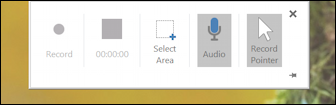 win10 screen recording powerpoint - control box not recording