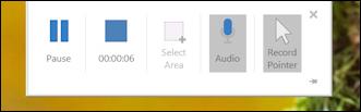 win10 screen recording powerpoint - screen recording control box