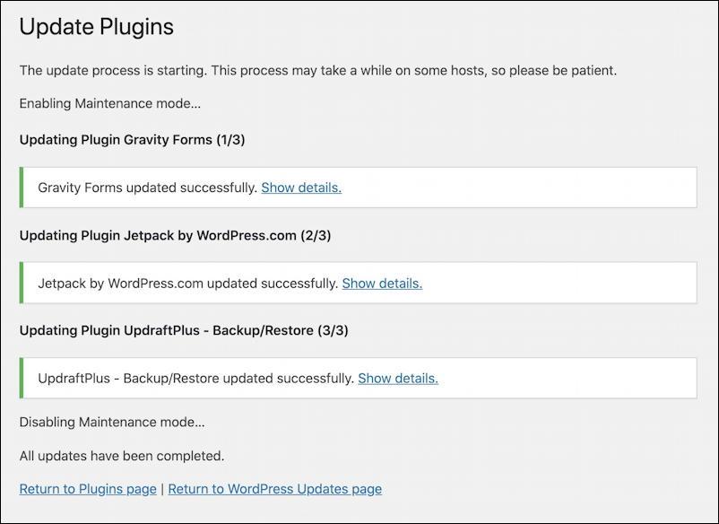 wordpress wp-admin - everything updated