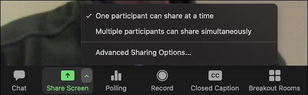 zoom share screen settings preferences configuration menu