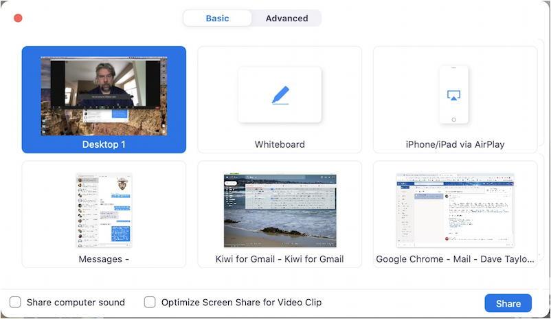 zoom share screen