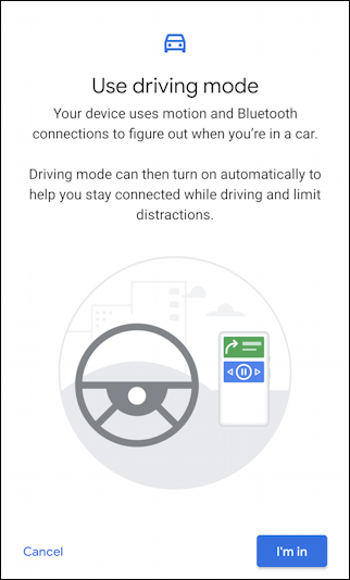 enable driving mode do not disturb android auto