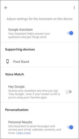 enable voice match google android