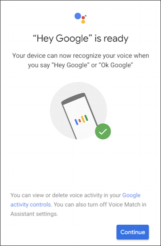android google assistant - hey google is ready