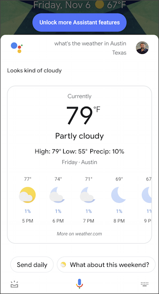 austin weather android hey google