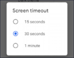 android screen timeout adjust fix change settings preferences