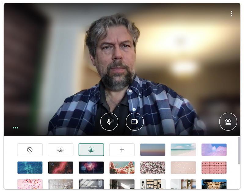 google meet - instant meeting - virtual backgrounds - big blur
