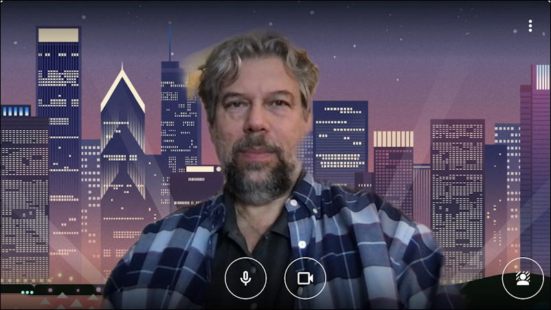google meet - instant meeting - virtual backgrounds - cityscape