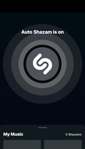 iphone ipad ios14 shazam - auto mode
