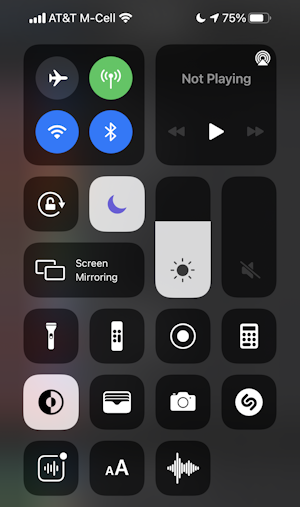 ios14 iphone control center - new buttons controls features shazam