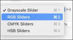 mac graphicconverter - color picker slider options rgb cmyk