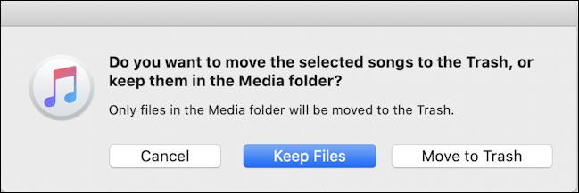 apple mac macos x - itunes music - delete or save music files