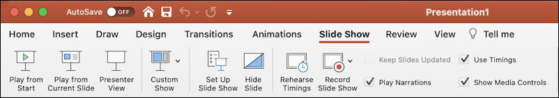 mac powerpoint slide show toolbar macos