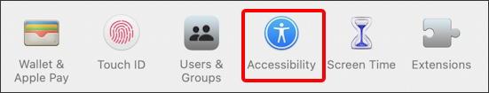 macos 11 big sur - accessibility - button