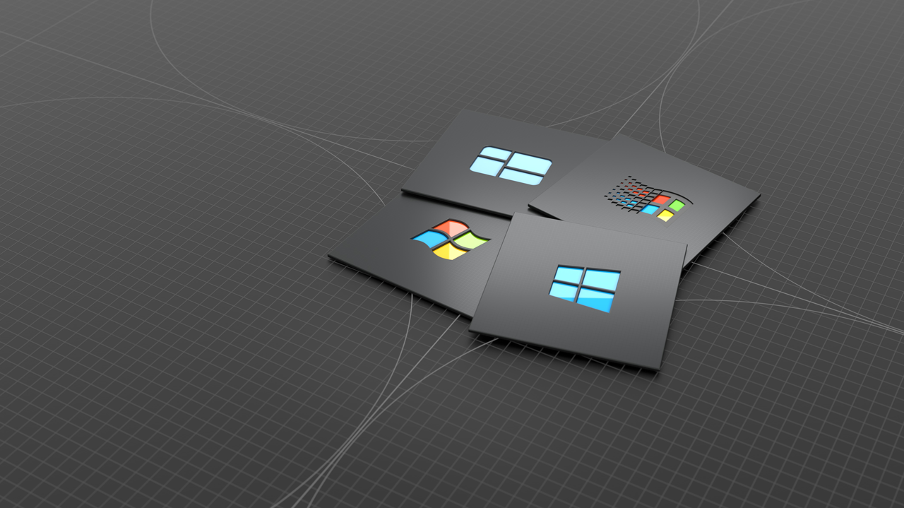 microsoft windows grey wallpaper background 1280 x 719