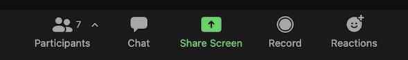 zoom active meeting toolbar