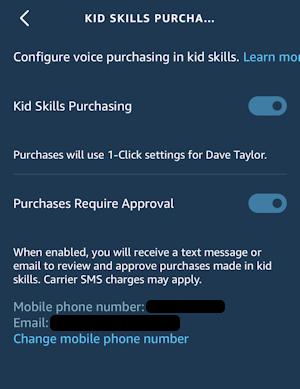 alexa app - settings - voice purchasing - confirmation - kids purchasing