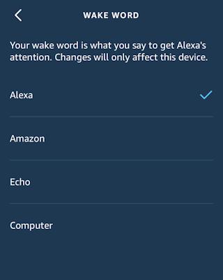 amazon alexa app iphone ios - change echo wake word