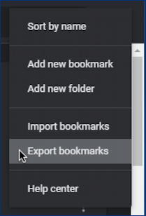 google chrome - export bookmarks - export your bookmarks file html