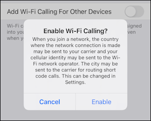 enable wifi calling at&t iphone - enable wifi calling?