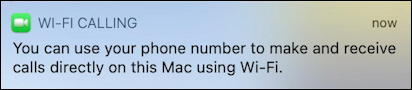 enable wifi calling at&t iphone - wifi calling enabled mac notification