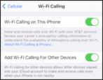 how to enable wi-fi calling at&t apple iphone free