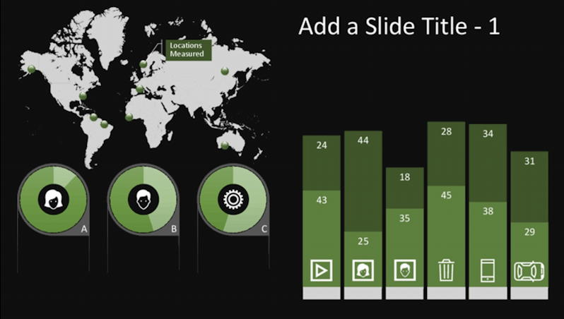 global infographic chart example - microsoft office